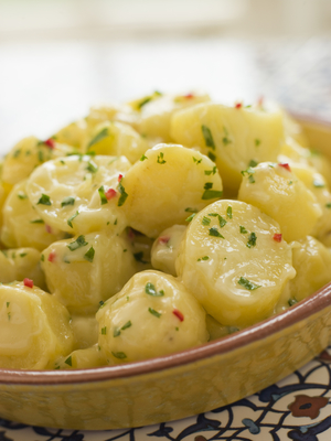 Potato Salad with Chili Coriander and Allioli