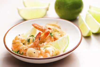 Grilled Jumbo Prawns In Tequila Sauce
