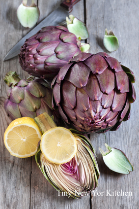 Garlic & Lemon Braised Artichokes