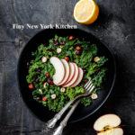Healthy Autumn Apple & Kale Raw Salad