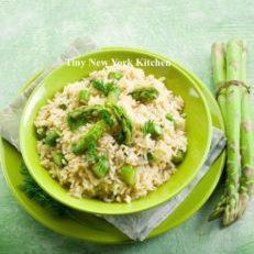 Asparagus & Leek Risotto
