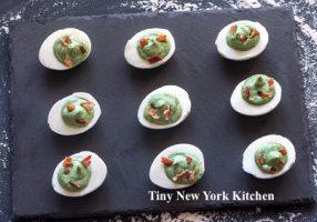 Avocado & Bacon Deviled Eggs