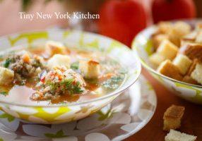 Beer & Meatball Soup