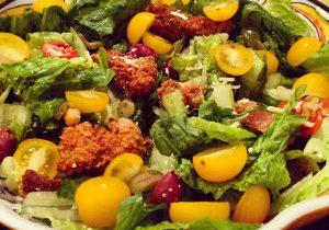 Crispy Chicken Romaine Salad