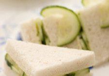 Tarragon Butter & Cucumber Tea Sandwiches