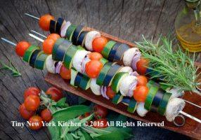 Grilled Eggplant Kebabs