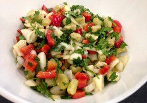 Fava Bean & Red Pepper Salad