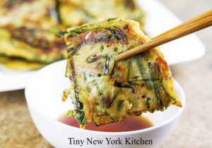 Green Onion Pancakes With Hoisin Dipping Sauce