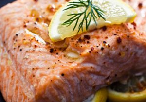 Grilled Spiced Salmon Steaks