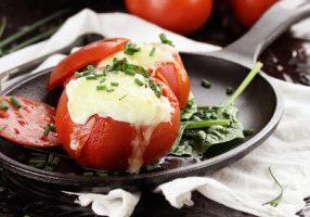 Lamb Stuffed Tomatoes