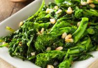 Lemon Garlic Sautéed Broccoli Rabe