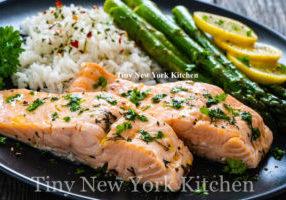 Roasted Salmon With Honey & Cilantro copy