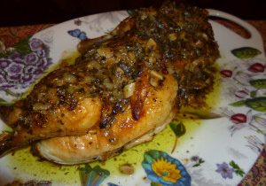 Roasted Split Chicken With Pan Sauce