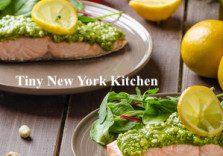 Salmon With Pistachio Pesto