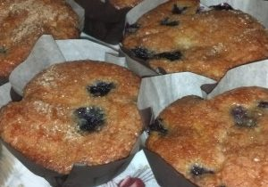 Sour Cream Blueberry Muffins 2