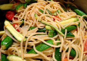 Spaghetti With Tomatoes & Baby Zucchini 1