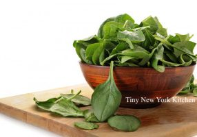 Warm Spinach With Balsamic Basil Butter