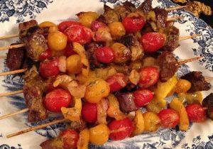 Steak, Tomato & Bell Pepper Skewers With Horseradish Dill Butter 2
