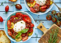 Sliced Heirloom Tomatoes And Mozzarella