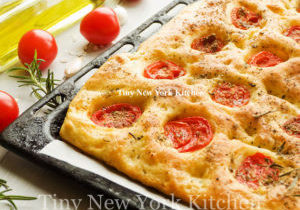 Traditional Tomato Focaccia With Garlic Rosemary Oil