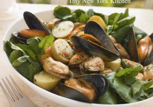 Warm Potato, Mussels & Watercress Salad
