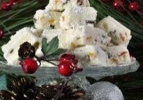 White Chocolate Fudge With Dried Fruit